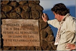 Am Grab von Michael Grzimek